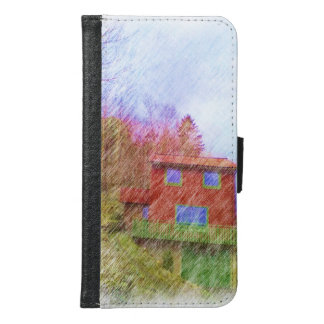 The red house samsung galaxy s6 wallet case