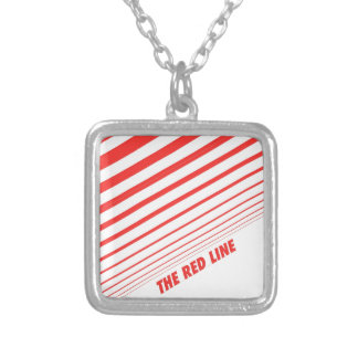 The red line personalized necklace