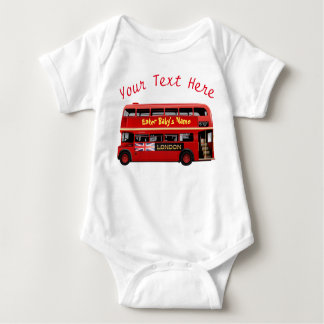 The Red London Bus Baby Bodysuit