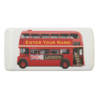 The Red London Bus Eraser