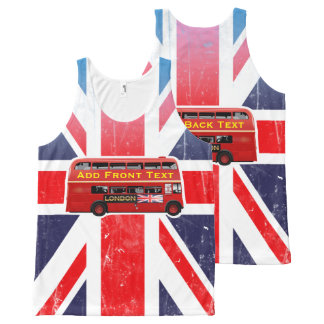 The Red London Double Decker Bus All-Over Print Tank Top
