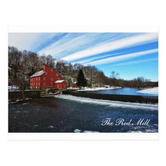 The Red Mill Landscape Postcard