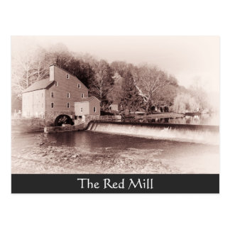 The Red Mill Vintage looking Postcard
