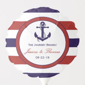 The Red & Navy Nautical Anchor Wedding Collection Balloon