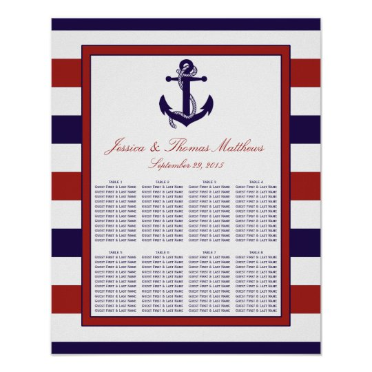 The Red & Navy Nautical Anchor Wedding Collection
