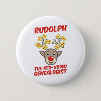 The Red-Nosed Genealogist 6 Cm Round Badge