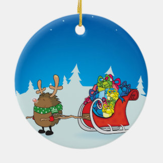 the red nosed hedgehog christmas ornament