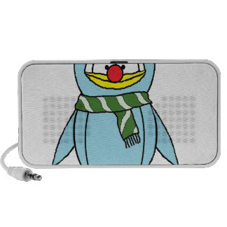 the Red Nosed Penguin Mini Speakers