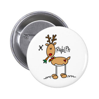The Red Nosed Reindeer Button 2 Inch Round Button