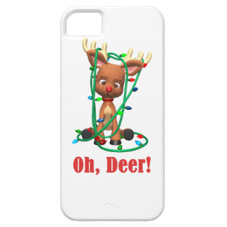 the Red Nosed Reindeer Gets Tangled Up Case For The iPhone 5