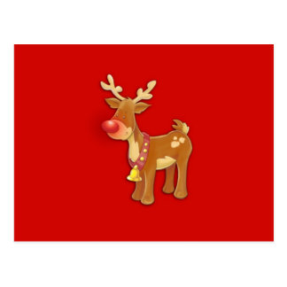 the Red Nosed Reindeer Postcard