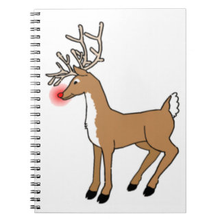 The Red Nosed Reindeer Spiral Notebook