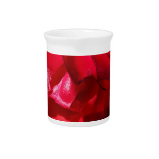 The red of autumn drink pitcher