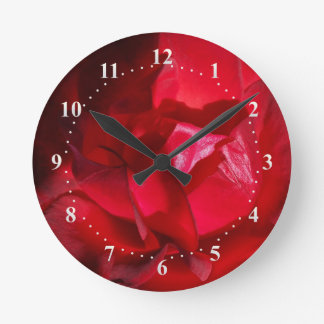 The red of autumn round clock