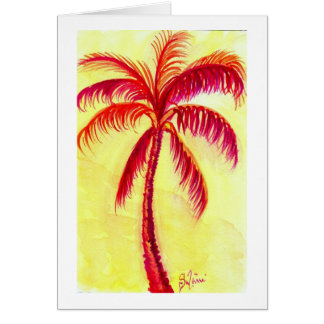 the red palm greeting card