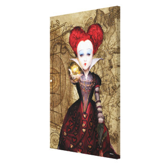The Red Queen | Don't be Late 2 Canvas Print