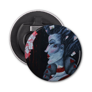 The Red Queen Orig Art Wonderland Bottle Opener