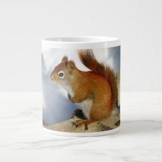 The Red Squirrel Who Stuck Around 20 Oz Large Ceramic Coffee Mug