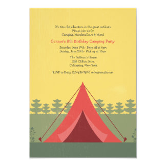 The Red Tent Camping Invitation