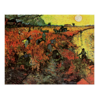 The Red Vineyard by Vincent van Gogh Poster