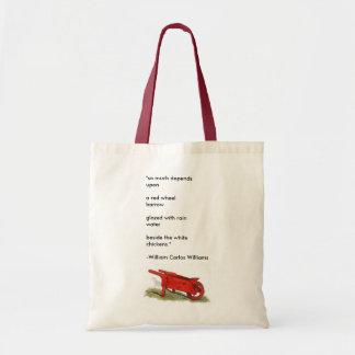 """The Red Wheelbarrow"" Budget Tote Bag"