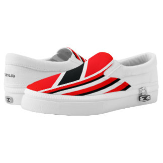 The Red White Black (cust.) Slip On Shoes