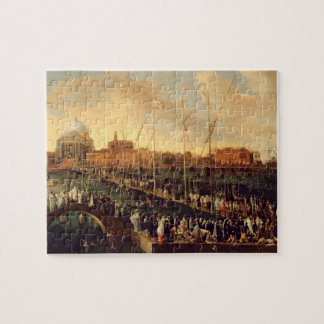 The Redentore Procession (oil on canvas) Jigsaw Puzzle