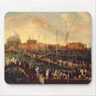 The Redentore Procession (oil on canvas) Mouse Mat