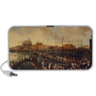 The Redentore Procession (oil on canvas) Portable Speakers