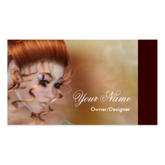 The Redhead - Fantasy Beauty Business Cards