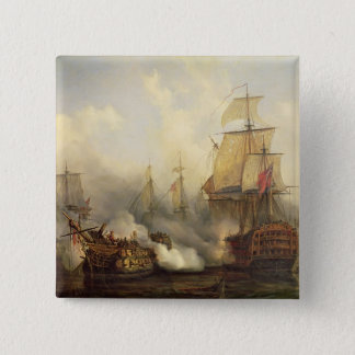 The Redoutable at Trafalgar, 21st October 1805 15 Cm Square Badge