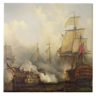 The Redoutable at Trafalgar, 21st October 1805 Large Square Tile