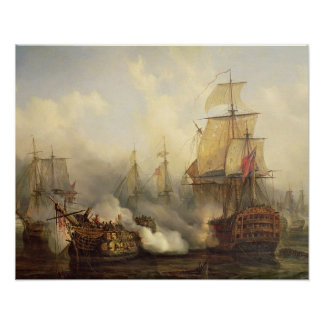The Redoutable at Trafalgar, 21st October 1805 Poster