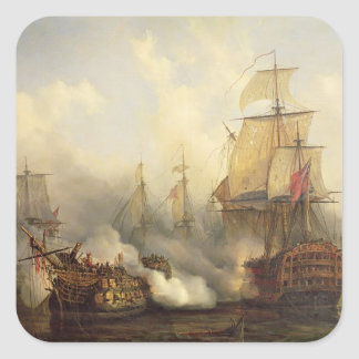The Redoutable at Trafalgar, 21st October 1805 Square Sticker