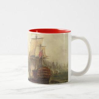 The Redoutable at Trafalgar, 21st October 1805 Two-Tone Coffee Mug
