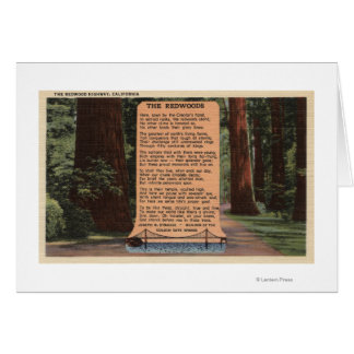 The Redwood Highway, Poem by Strauss Card