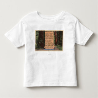 The Redwood Highway, Poem by Strauss Toddler T-Shirt