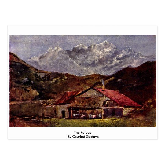 The Refuge By Courbet Gustave Postcard
