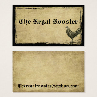 The Regal Rooster- Custom Order Business Card