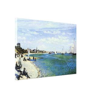 The Regatta at Saint-Adresse Canvas Prints