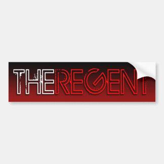 The Regent bumper sticker