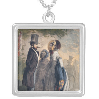 The Regular Visitor to Ranelagh Gardens Silver Plated Necklace