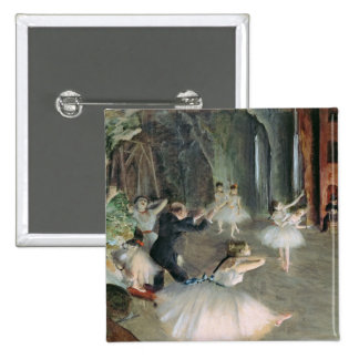 The Rehearsal of the Ballet on Stage, c.1878-79 15 Cm Square Badge