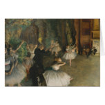 The Rehearsal of the Ballet Onstage - Edgar Degas Greeting Card
