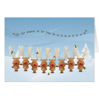 the Reindeer Christmas Holiday Song Card