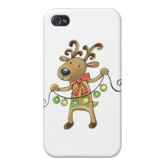 THE REINDEER STRINGING PARTY LIGHTS CASE FOR iPhone 4