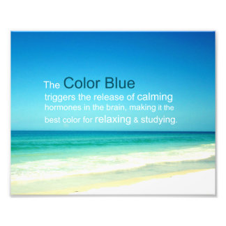 The Relaxing Calming Color Blue of Sea & Sky Photo Print