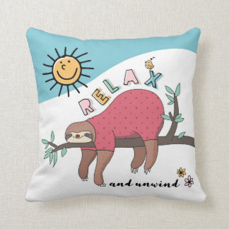 The Relaxing Sloth Cushion