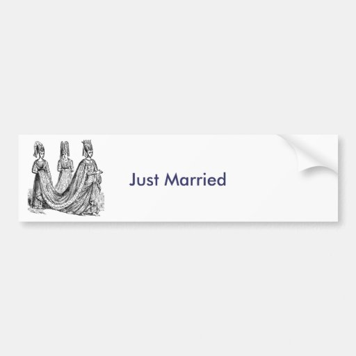 The Renaissance Wedding Bumper Stickers