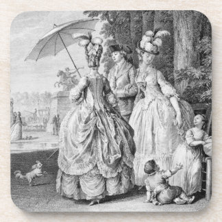 The Rendezvous at Marly, engraved by Carl Guttenbe Drink Coasters